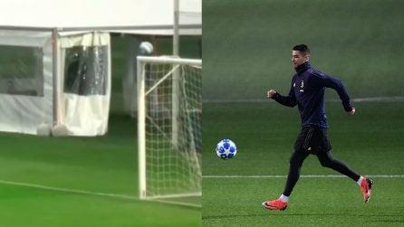 Cristiano Ronaldo inventa una cosa pazzesca in allenamento