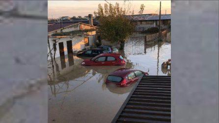 Maltempo, esonda il fiume Crati: case allagate nel cosentino