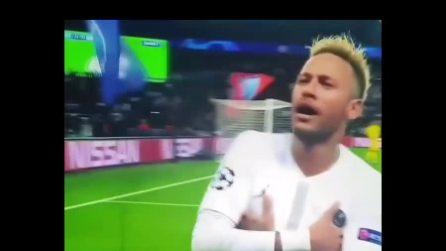 Neymar segna contro il Liverpool e imita l'esultanza di Mbappè
