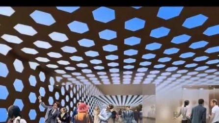 """Come sarà all'interno la fermata """"Duomo"""" della metropolitana di Napoli"""