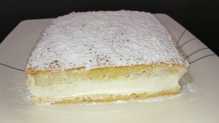 Torta bianca con un cuore cremoso: il dessert che piacerà a tutti