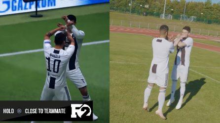 Da Cristiano Ronaldo a Pogba: come riproporre le esultanze di Fifa 19 nella realtà