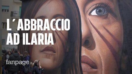 """Napoli, inaugurato il murales di Ilaria Cucchi: """"Sono molto preoccupata per i diritti umani nel nostro paese"""""""