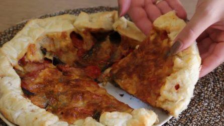 Pizza rustica alla parmigiana: un ripieno che vi farà impazzire