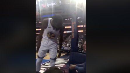 Kevin Durant insulta un tifoso e viene multato