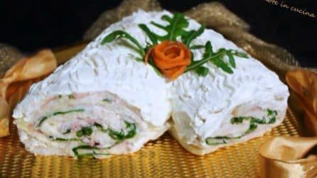 Tronchetto salato senza cottura: l'idea gustosa per i tuoi aperitivi