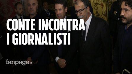Conte incontra i giornalisti minacciati, ma non risponde alle domande dei cronisti