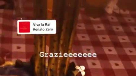 Federico Angelucci festeggia la vittoria a Tale e Quale Show 2018