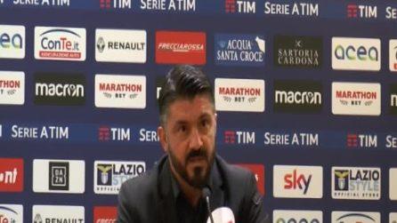 """Gattuso: """"Salvini? Pensi alla politica. Se ha tempo di parlare di calcio siamo messi male"""""""