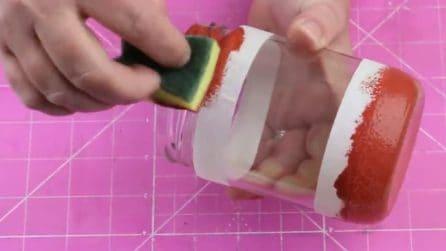 Découpage di Natale: ecco come riciclare i barattoli di vetro