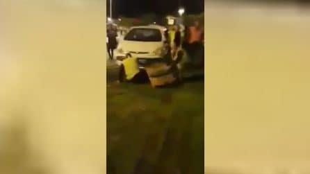 Protesta gilet gialli, le immagini dei disordini a Montpellier