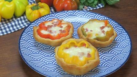 Peperoni ripieni in crosta: l'idea colorata e gustosa che non potrà non piacere!