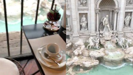 Un buon caffè con vista sulla Fontana di Trevi: che scenario