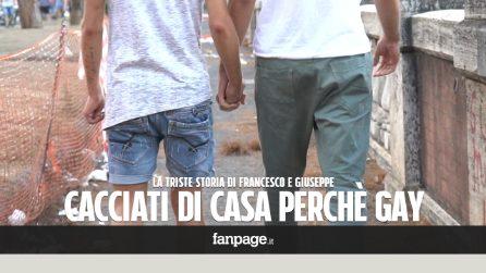 "Francesco e Giuseppe: ""Cacciati dalle nostre famiglie perché gay. Ora dormiamo sulle panchine"""