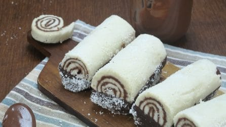 Coconut and Nutella rolls: a sweet treat that takes no time to make!