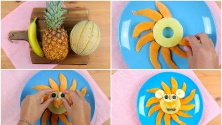 Banana, ananas e melone: la decorazione divertente e golosa