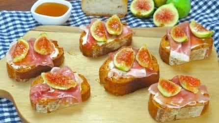 Crostini con fichi: l'idea gustosa per l'aperitivo!