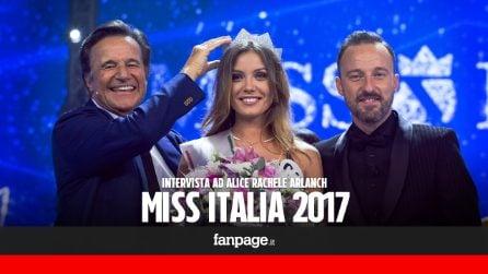 """Alice Rachele Arlanch è Miss Italia 2017: """"Dedico la corona alla mia famiglia e al mio ragazzo"""""""