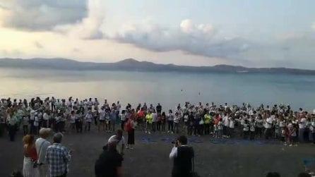 """Bracciano, il flash mob """"Muoio di Sete"""" per salvare il lago"""