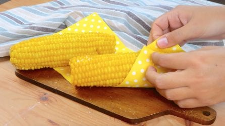 Microwave Corn on the Cob: you'll need just 3 minutes