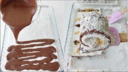 Rotolini cioccolato e cocco: un dessert semplice, fresco e goloso