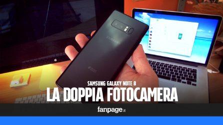 Galaxy Note 8: come funziona la doppia fotocamera Samsung