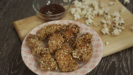 Popcorn chicken: crispy and delicious!