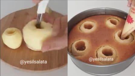 Svuota le mele e versa l'impasto all'interno: una torta originale e golosa