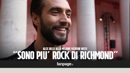 """Alex Belli da Milano Fashion Week:""""Se tutti andassero nudi come me la moda non guadagnerebbe nulla"""""""
