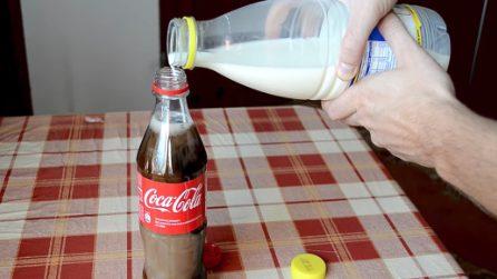 Cosa succede se mischiate la Coca Cola con il latte: la reazione chimica è sorprendente