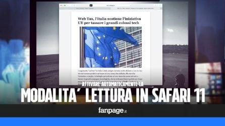 Aggiornamento Mac: attivare la modalità di lettura automatica con il nuovo aggiornamento di Safari