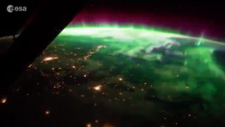 L'aurora boreale vista dallo Spazio: lo spettacolo mozzafiato catturato dall'astronauta italiano