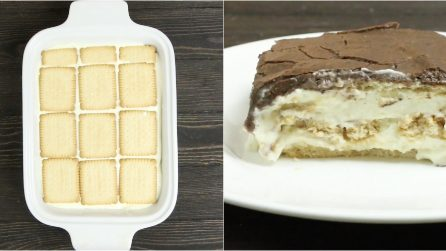 Eclair Cake: a delicious and easy biscuit dessert!