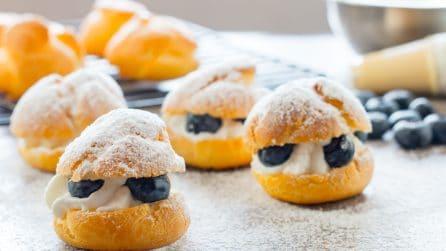 Blueberry Cream Puffs