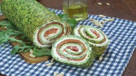 Arugula roll: the recipe for a quick and tasty dinner!