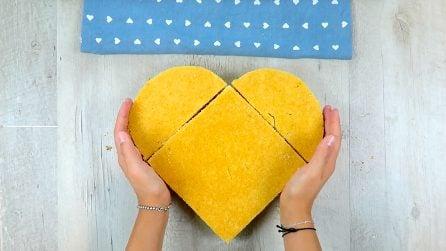 Come realizzare una torta a cuore con due pan di Spagna