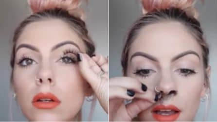 Prende le ciglia finte poi le mette nel naso: l'ultima bizzarra moda su Instagram