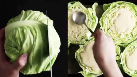 Taglia la lattuga a pezzi, poi li farcisce così: una ricetta a cui non avevi mai pensato