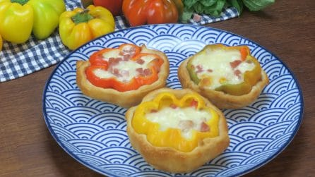 Stuffed bell peppers in crust: a colorful and tasty recipe everyone will enjoy!