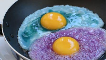 La ricetta per fare l'uovo a occhio di bue colorato