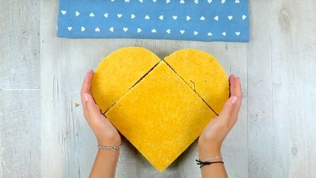 How to make a heart shaped cake with sponge cake