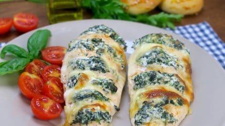 Pollo a fisarmonica con ricotta e spinaci: la ricetta originale e gustosa da provare subito!