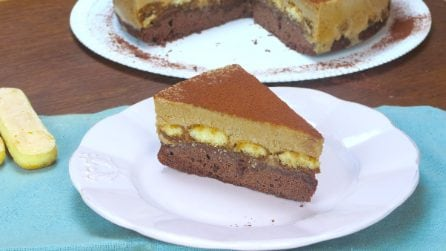 Tiramisù brownie cake: no one will be able to resist a slice of this amazing dessert