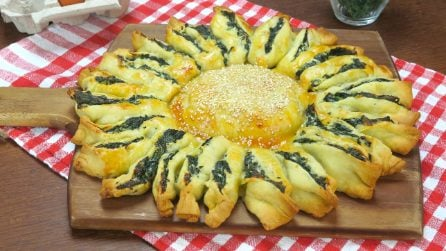 Ricotta and spinach sunflower: this dish will surprise you!