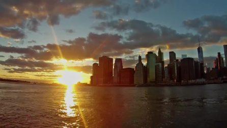 Tutta la bellezza di New York: il tramonto in timelapse è spettacolare