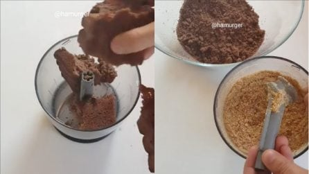 Sbriciola la torta e poi unisce i biscotti: il risultato vi sorprenderà