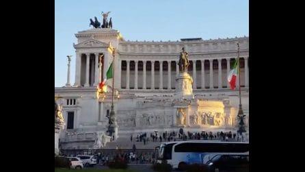 Roma, tutta la maestosità dell'Altare della Patria