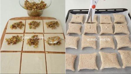Farcisce la pasta brisé e fa dei taglietti sopra: una ricetta facile e gustosa