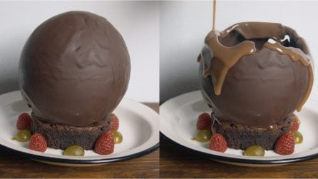 Melting chocolate dome: this dessert will surprise you!