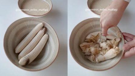 Tre banane vengono ridotte in poltiglia: la ricetta per un dolce buonissimo